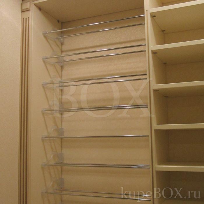Наполнение шкафов-купе: полки, ящики и корзины.