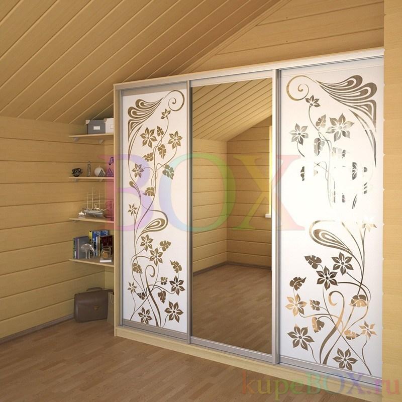 Фасады шкафа-купе. Наполнение: ДСП, зеркало, лакобель, лакомат ... | 800x800