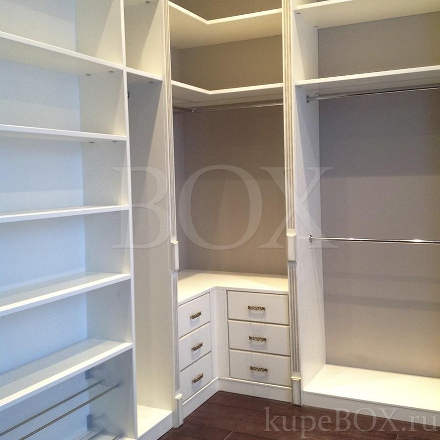 Шкаф гардеробная угловой