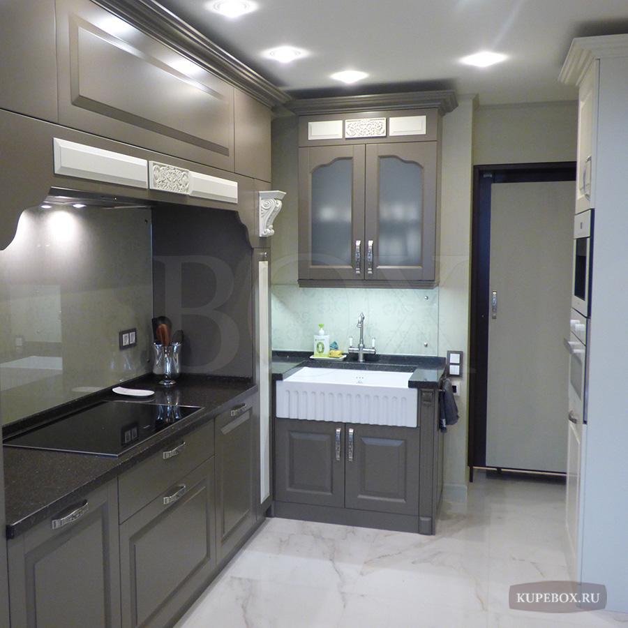 Серая кухня из МДФ