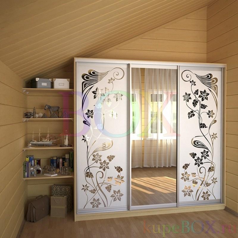 фото шкаф-купе с рисунком