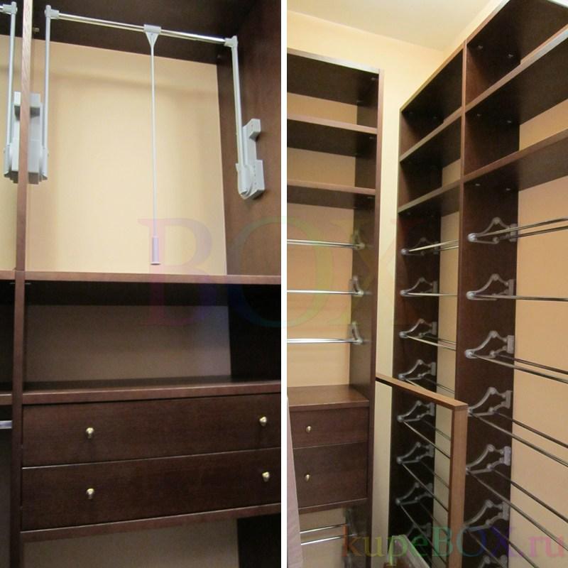 Гардеробные шкафы из шпона